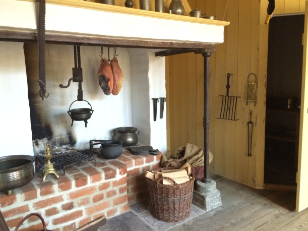 Old kitchens have to be my favorite--look at the hearth!
